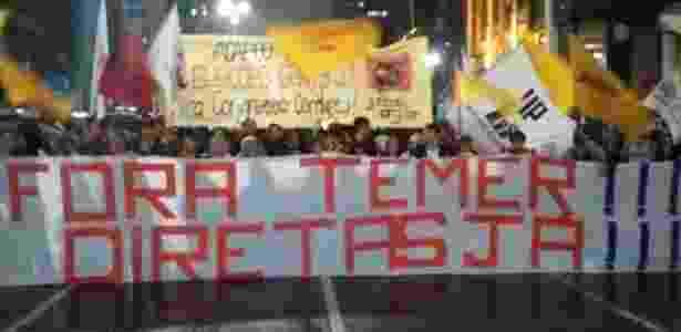 Após divulgação de acusações contra Temer, manifestantes pedem eleições diretas já para presidente - UOL