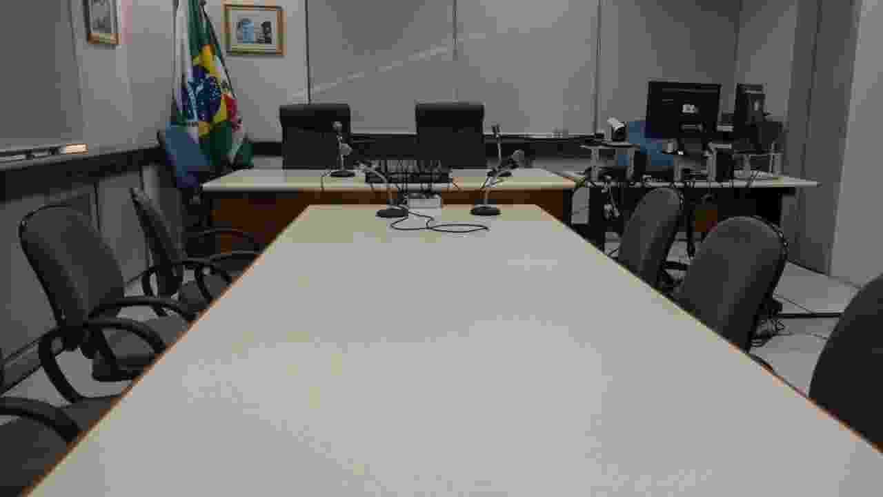 11.set.2017 - A alguns passos do gabinete do juiz Sergio Moro, a sala de audiência 2 fica no segundo andar do prédio da Justiça Federal - Nathan Lopes/UOL