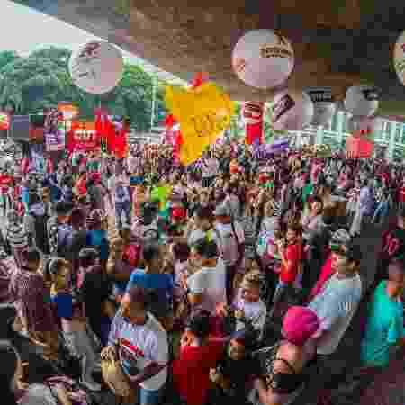 Protesto contra a Reforma da Previdência, no  Masp - Cris Faga -5.dez.2017/Fox Press Photo/Estadão Conteúdo