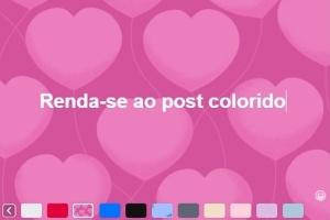 Renda-se e aprenda a deixar o seu post no Facebook colorido (Foto: Reprodução)