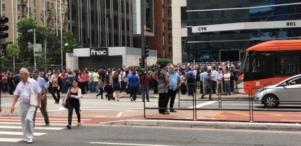 Prédio foi evacuado na avenida Paulista por suspeita de terremoto