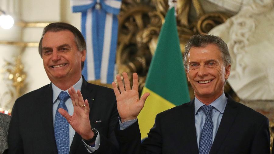 Os presidentes do Brasil, Jair Bolsonaro, e da Argentina, Mauricio Macri, em Buenos Aires - Agustin Marcarian/Reuters