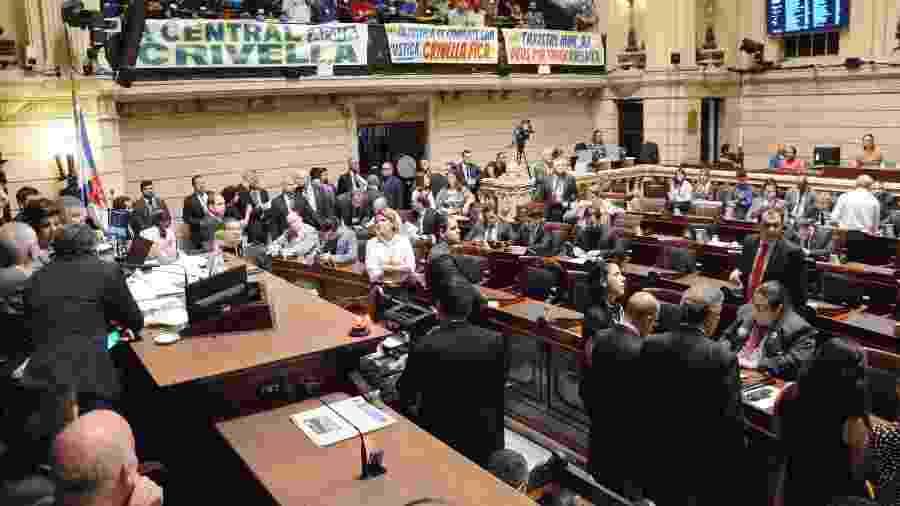 25.jun.2019 - Plenário da Câmara de Vereadores do Rio durante a votação do impeachment de Crivella - Renan Olaz/CMRJ