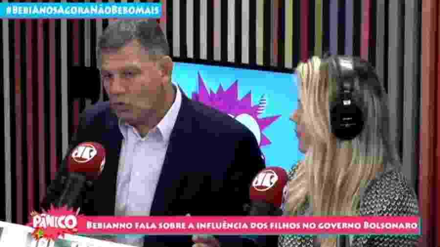 Gustavo Bebianno participa de entrevista no programa Pânico - Reprodução JP