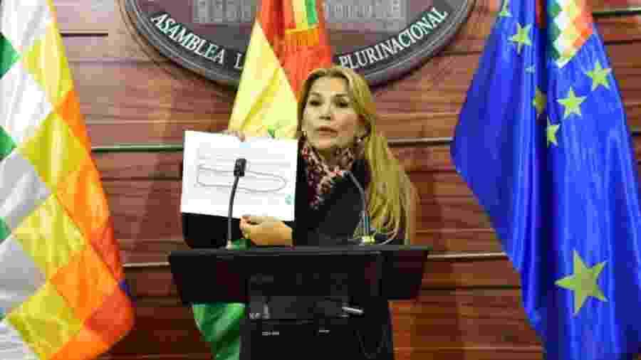 A senadora boliviana Jeanine Añez - Reprodução/Facebook