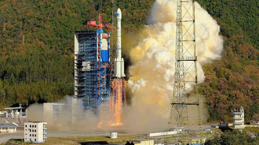 Em dezembro, China lançou satélites do sistema Beidou, que começará a funcionar no ano que vem - Xinhua/Guo Wenbin