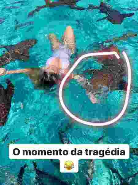 Influencer Ana Bruna Avila é mordida por tubarão nas Bahamas - Reprodução/Instagram