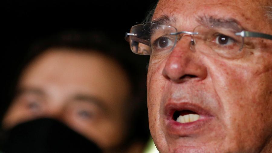 """""""Nós vamos derrubar a dívida pública"""", diz Guedes - ADRIANO MACHADO"""
