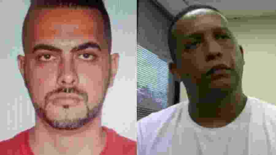 Cláudio José Pinheiro Freitas (esq.) e José Carlos de Oliveira (dir.), suspeitos de integrar a cúpula do PCC, mortos por PMs da Rota - Reprodução