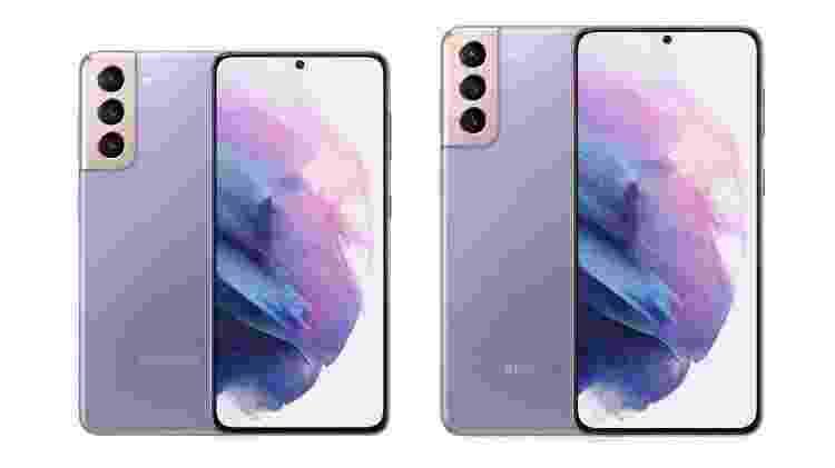 Galaxy S21 e S21 Plus, segundo o site Winfuture - Reprodução/Winfuture - Reprodução/Winfuture