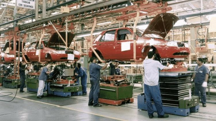 Fábrica em São Bernardo do Campo (SP), em 1996 - Divulgação/Ford - Divulgação/Ford