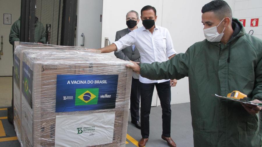 O contrato do Butantan com o Ministério da Saúde prevê a entrega de 46 milhões de doses da vacina contra Covid-19 do laboratório chinês Sinovac até o final de abril -  ROGÉRIO GALASSE/FUTURA PRESS/ESTADÃO CONTEÚDO