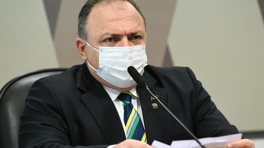 Ex-ministro da Saúde Eduardo Pazuello em depoimento à CPI da Covid, no Senado - Jefferson Rudy/Agência Senado