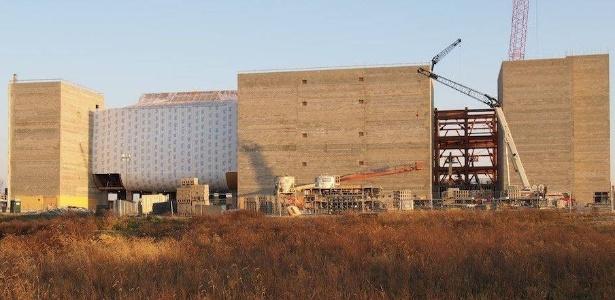 A arca em construção em Williamstown, Kentucky