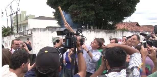 Bolsonaro solta fogos em Curitiba para comemorar investigação de Lula - Reprodução