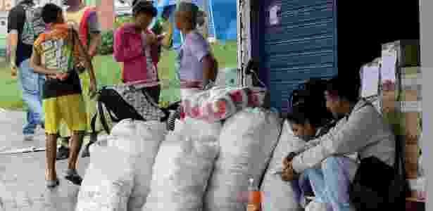 A cidade de fronteira Pacaraima tem grande quantidade de venezuelanos - William Urdaneta/Reuters - William Urdaneta/Reuters