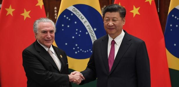 Michel Temer e o presidente da China, Xi Jinping, durante encontro em Hangzhou
