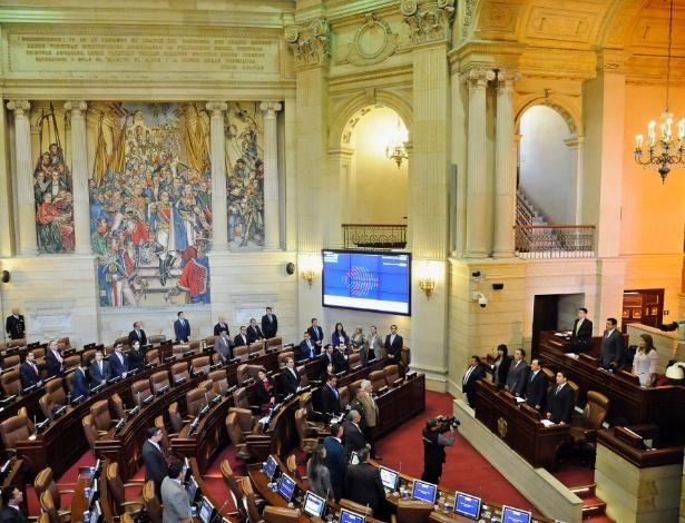 Plenário da Câmara dos Representantes da Colômbia aprovou acordo com 130 votos