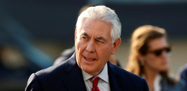 O secretário de Estado americano, Rex Tillerson, chega à Cidade do México