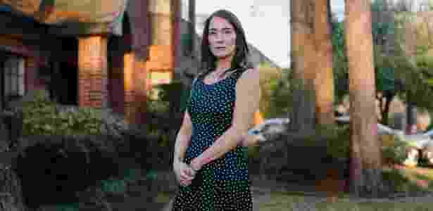 Diana Donath em sua casa em Baytown, no Texas - Bryan Schutmaat/NYT