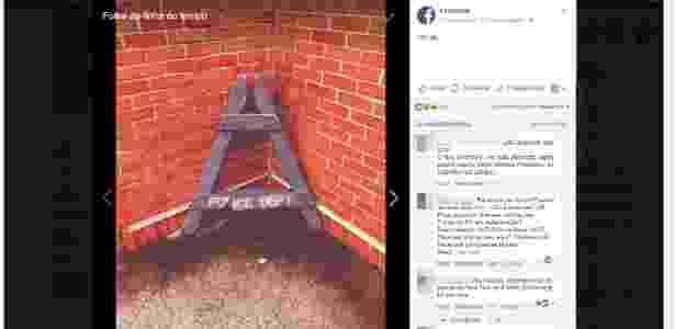 20.abr.2018 - Foto de cavalete quebrado na página oficial do Facebook no Brasil causa comoção - Reprodução - Reprodução