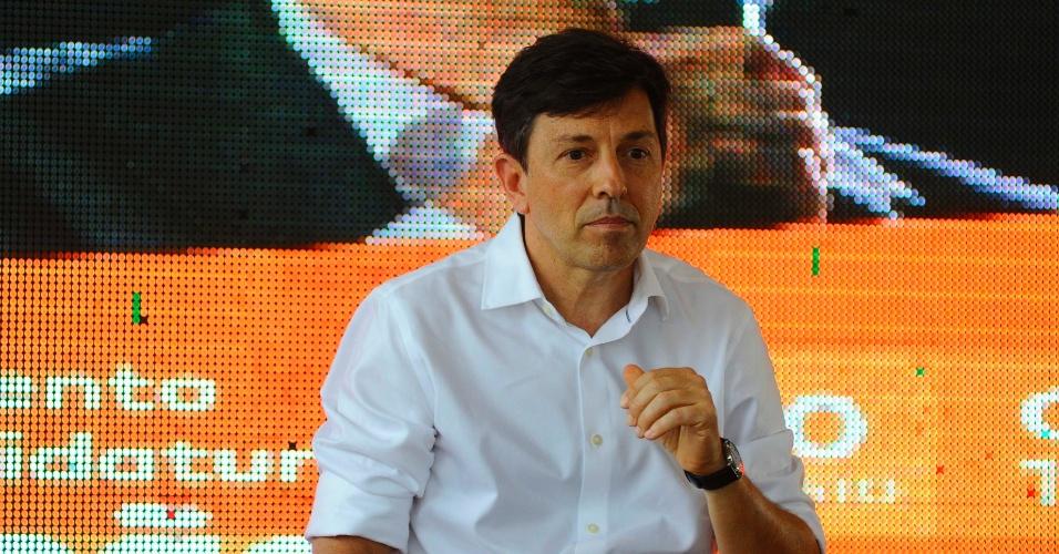 30.ago.2018 - Lançamento da candidatura de João Amoêdo à Presidência da República no comitê do Partido Novo, no bairro do Pina, zona sul do Recife (PE), nesta quinta-feira