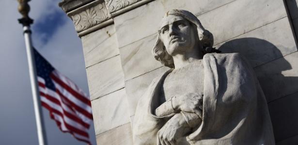 Estátua de Cristóvão Colombo em Washington, capital dos EUA