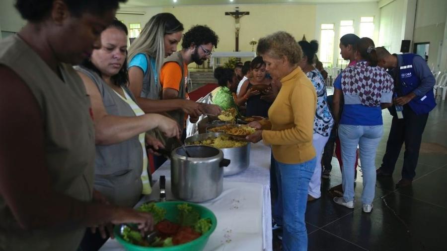 Imigrantes venezuelanos, vindos de Boa Vista (RR), são acolhidos numa paróquia do Distrito Federal. Em 2018, cerca de 10 mil venezuelanos entraram no Brasil, fugindo da crise em seu país - Valter Campanato/Agência Brasil