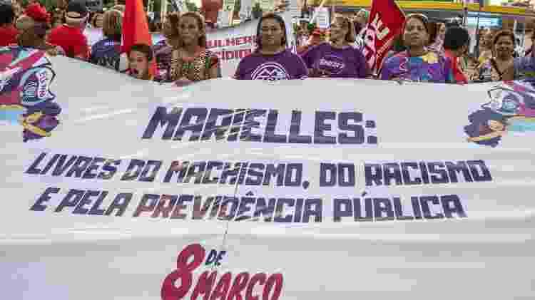 Ato no Recife lembrou a vereadora Marielle Franco - Leonardo Milano/Futura Press/Estadão Conteúdo
