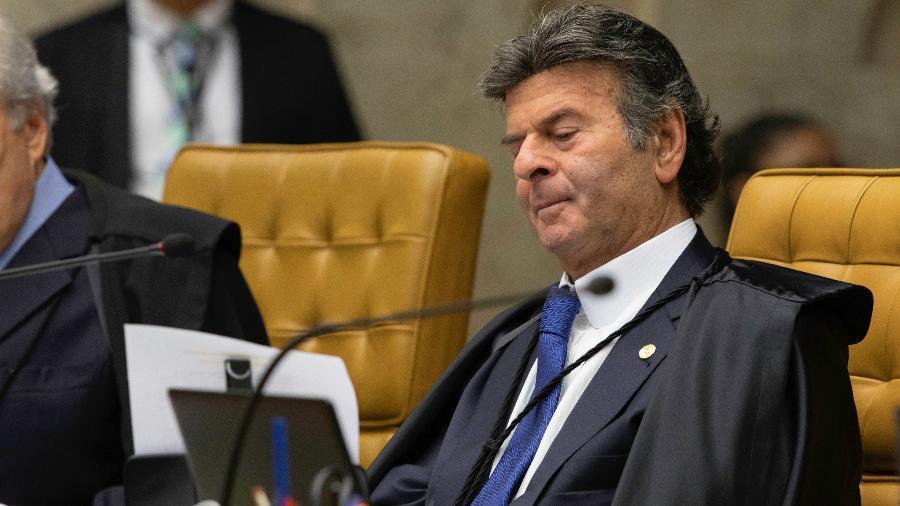Ministro Luiz Fux em sessão do STF durante julgamento sobre prisão em segunda instância - Bruno Rocha/Fotoarena/Estadão Conteúdo