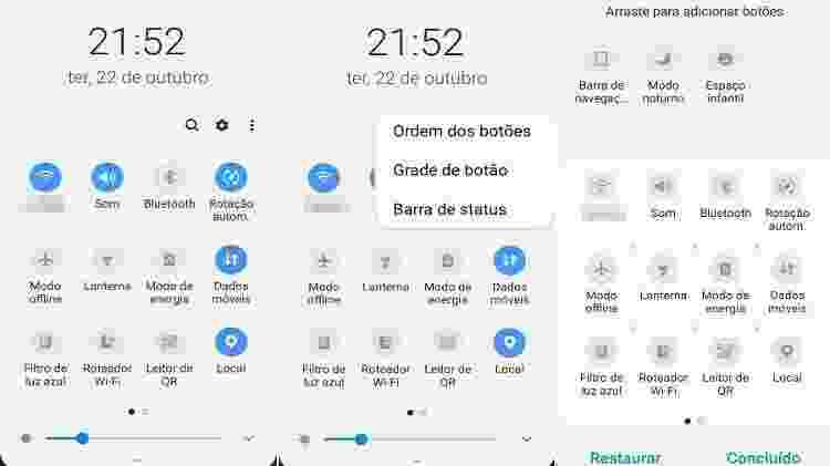 Central de controle em Android - Reprodução - Reprodução