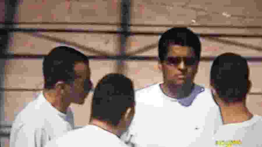 Alejandro Juvenal Herbas Camacho Júnior (de óculos), o irmão de Marcola, enquanto estava preso com a cúpula do PCC no interior de São Paulo - Reprodução