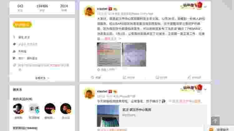 Médico chinês - Reprodução/Weibo - Reprodução/Weibo