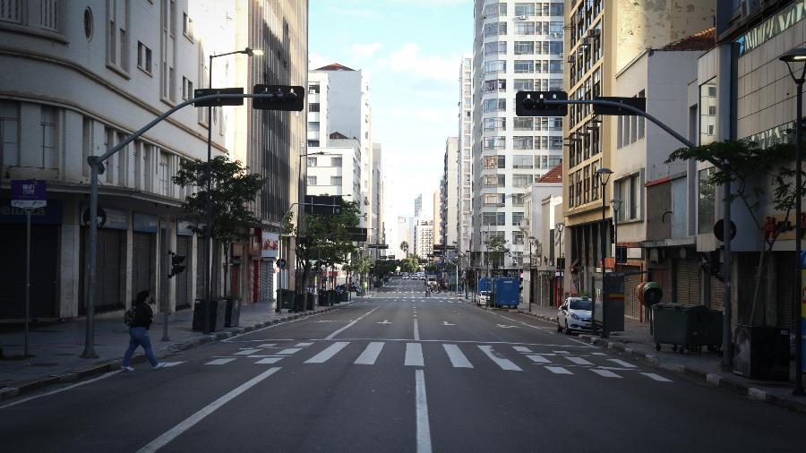 Vista do centro de Campinas, interior de São Paulo - Luciano Claudino/Código 19/Estadão Conteúdo