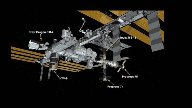 Naves estacionadas na Estação Espacial Internacional - Nasa - Nasa