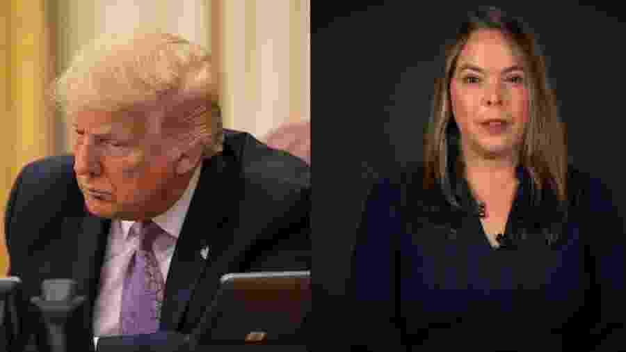 Ex-funcionária da Casa Branca revelou apoio a Joe Biden - Reprodução