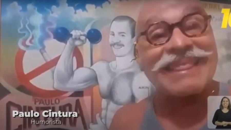 O humorista Paulo Cintura, da Escolinha do Professor Raimundo, em propaganda eleitoral no Rio - Reprodução