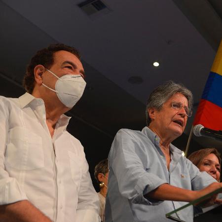 11.abr.2021 - O presidente eleito do Equador Guillermo Lasso - Fernando Mendez/AFP