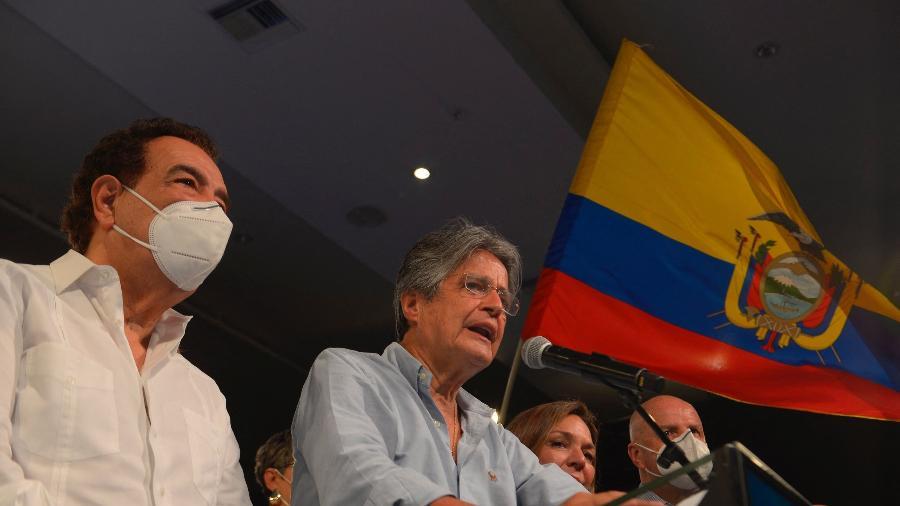 CNE do Equador proclamou, hoje,a vitória do ex-banqueiro Guillermo Lasso - Fernando Mendez/AFP