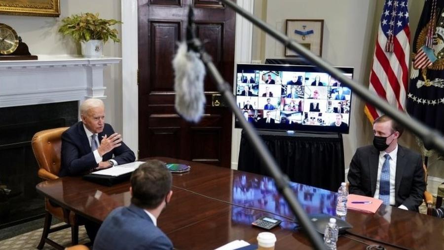 Para consultor Ian Bremmer, cúpula organizada por Joe Biden (acima) pode resultar em acordo em que o Brasil receba fundos para preservar Amazônia - REUTERS