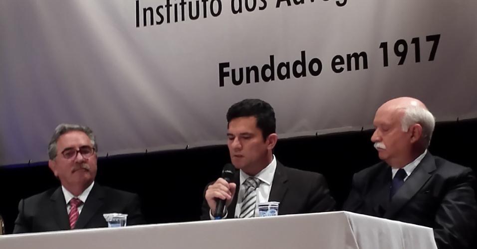 29.jul.2015 - Em palestra realizada na noite desta quarta-feira em Curitiba (PR), o juiz Sergio Moro, que atua na Operação Lava Jato, afirmou que atuação da Justiça depende da participação popular