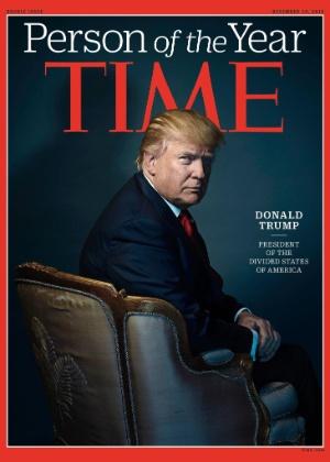 Revista chamou Trump de 'presidente eleito dos Estados Divididos da América'