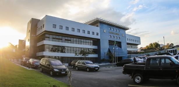Sede da PF em Curitiba, onde Lula está preso