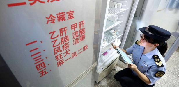 Autoridade supervisora a origem de vacinas em um hospital em Rongan, região sul de Guangxi, na China - AFP
