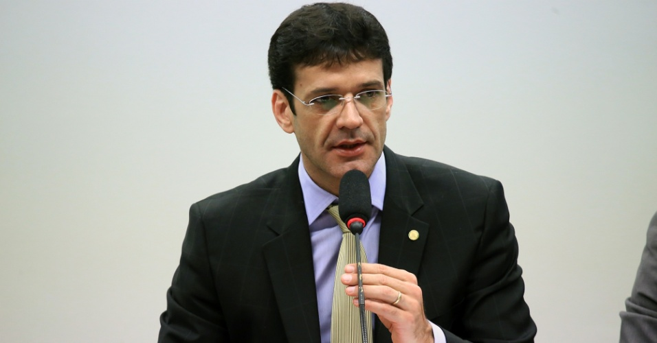 21.set.2017 - Deputado Marcelo Álvaro Antônio (PSL-MG) durante audiência na Câmara
