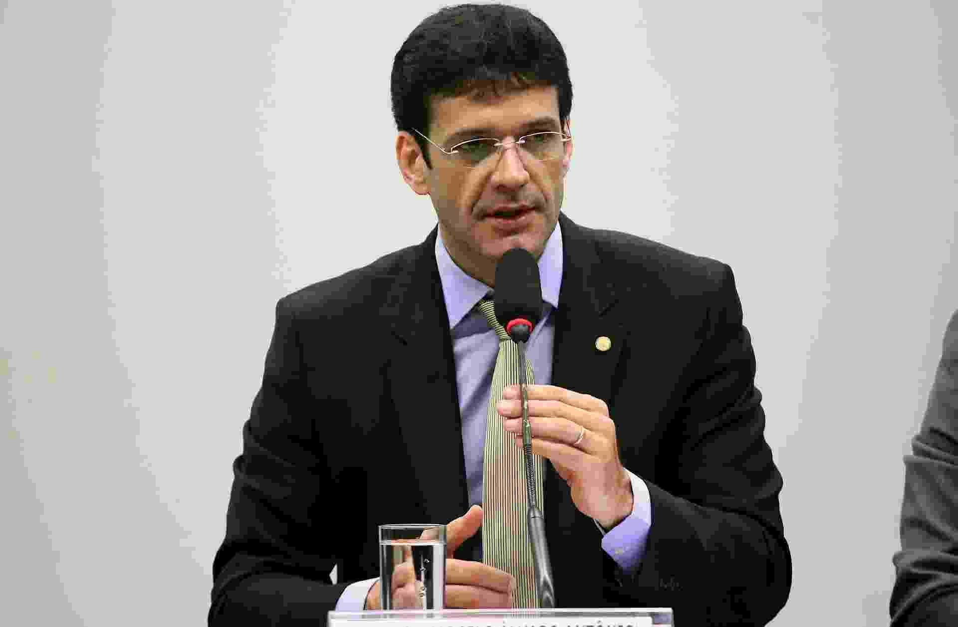 21.set.2017 - Deputado Marcelo Álvaro Antônio (PSL-MG) durante audiência na Câmara - Lúcio Bernardo Junior/Câmara dos Deputados
