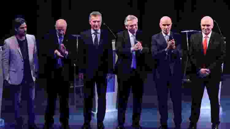 Debate entre os candidatos a presidente na Argentina, no último domingo - Divulgação