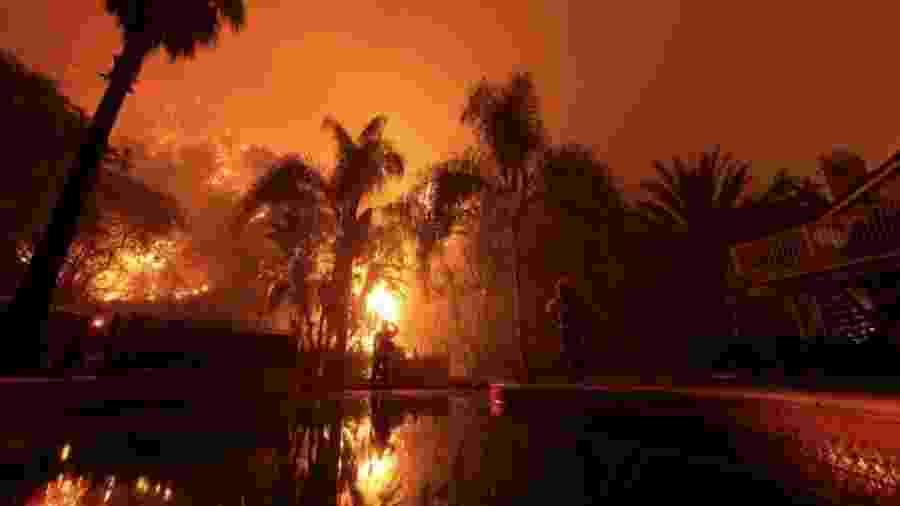 A proteção de bombeiros privados começou a ser oferecida por seguradoras há pouco mais de uma década, tanto na Califórnia quanto em outros Estados americanos que costumam enfrentar incêndios florestais - Divulgação