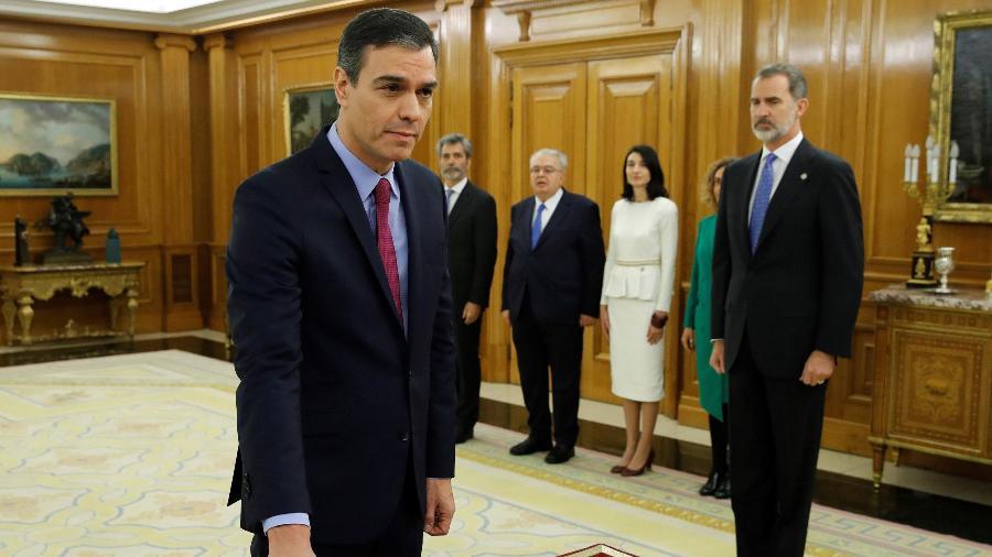 Primeiro-ministro da Espanha, Pedro Sánchez, anunciou que o governo vai perdoar nove líderes separatistas envolvidos na frustrada tentativa de independência da Catalunha - Juan Carlos Hidalgo/Pool/AFP