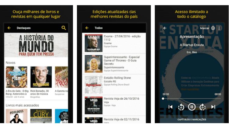 Saraiva: baixe estes apps audiobook - Reprodução - Reprodução